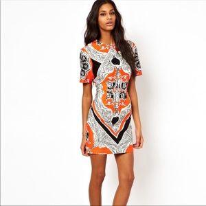 Dresses & Skirts - Maternity orange and black paisley dress